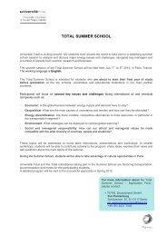 TOTAL SUMMER SCHOOL - Total  Deutschland GmbH
