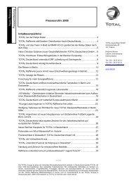 Pressearchiv 2009 - Total Deutschland GmbH