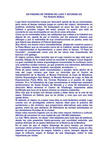 UN PAISANO EN TIERRAS DE LUGO Y ASTURIAS (VI) - Elpimo.es