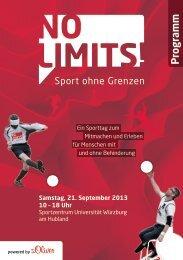 Programm - Sportzentrum - Universität Würzburg
