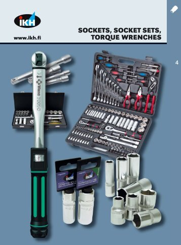 IKH, Tools 2007, 4. Sockets, socket sets, torque wrenches