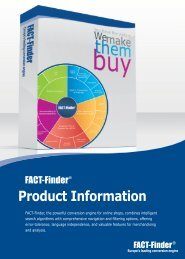 FACT-Finder Product Information