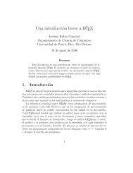 Una introducción breve a LATEX - Departamento de Ciencia de ...