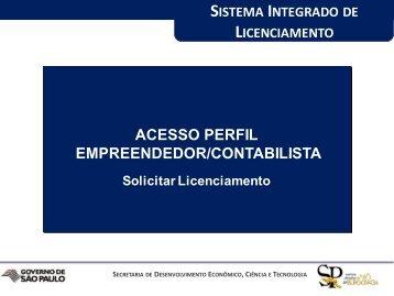 ACESSO PERFIL EMPREENDEDOR/CONTABILISTA - Prefeitura ...