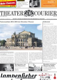 Editorial Saisonauftakt 2013/2014 der Dresdner ... - theatercourier