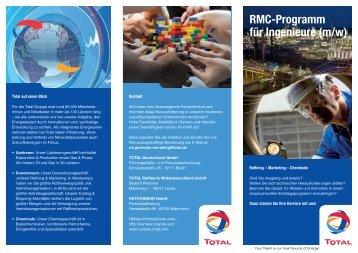 RMC-Programm für Ingenieure (m/w) - Total Deutschland GmbH