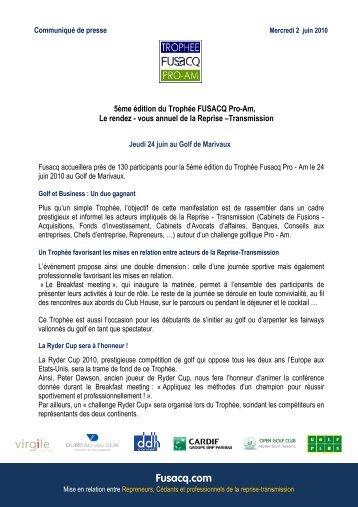 5ème édition du Trophée Fusacq Pro-Am, Le rendez-vous annuel ...