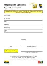 Fragebogen für Gemeinden