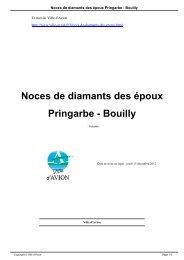 Noces de diamants des époux Pringarbe - Bouilly - Avion