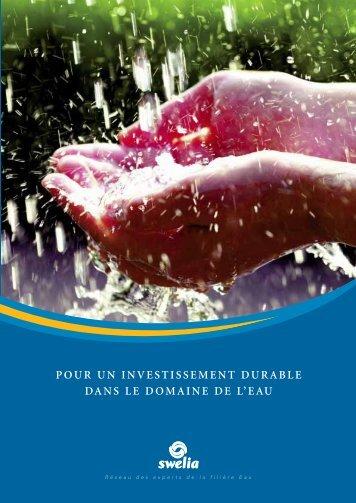 pour un investissement durable dans le domaine de l'eau