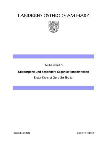 Kreisorgane und besondere Organisationseinheiten