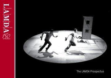 The LAMDA Prospectus - Conservatoire for Dance and Drama