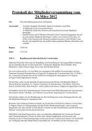 Protokoll der Mitgliederversammlung vom 24.März 2012