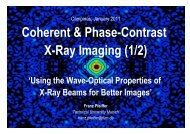 Coherent & Phase-Contrast X-Ray Imaging (1/2) - espca – lnls