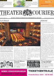 Editorial Let's Dance! - theatercourier