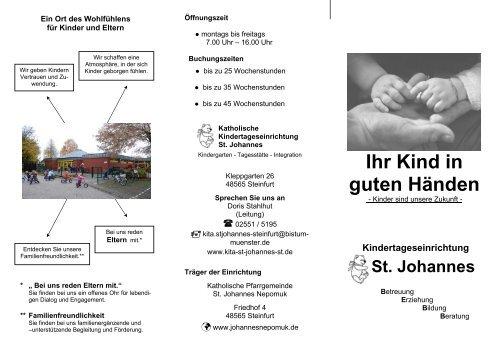 Kita-Flyer 2013 - Start - Katholisch in Steinfurt