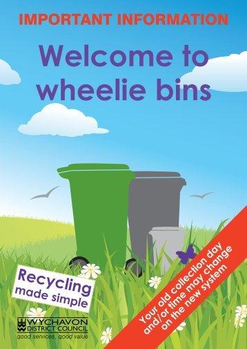 Welcome to wheelie bins - Wychavon District Council