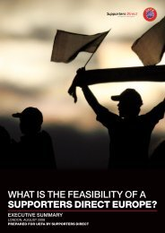 What is the Feasibility of a Supporters Direct Europe Executive ...