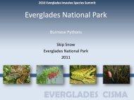 Pythons - Everglades Cooperative Invasive Species Management ...