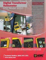 Digital Transformer Ratiometer DTR® Model 8510 - Davis Inotek ...