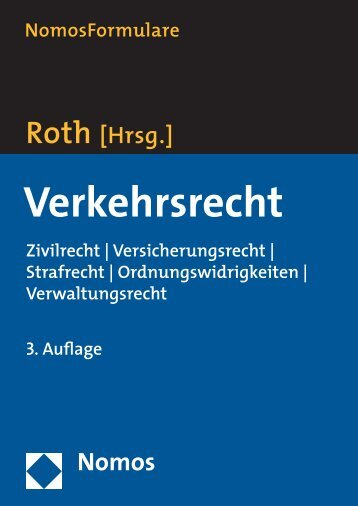 Verwaltungsrecht NomosFormulare Hartmut Roth - Zum Nomos-Shop