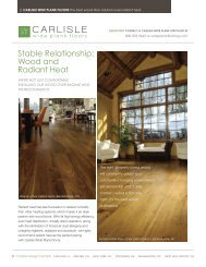 Wood and radiant heat - Carlisle Wide Plank Floors
