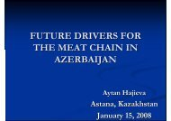 future drivers for the meat chain in azerbaijan - Young-Train