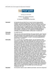 Professor Dr. Dietrich Schwanitz Schriftsteller im Gespräch mit - 1