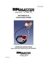pro remote 25 capacitance probe operating instructions
