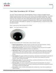 cisco – civs – 2611 ip h.264 dome camera - VIS Security