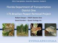 FDOT District One - Everglades Cooperative Invasive Species ...