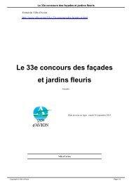 Le 33e concours des façades et jardins fleuris - Avion