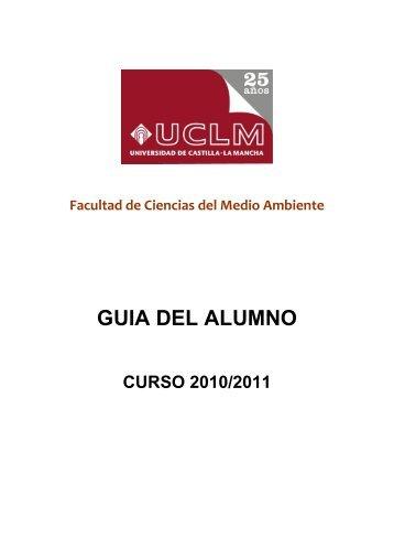 GUIA DEL ALUMNO - Universidad de Castilla-La Mancha