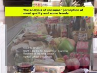 The analysis of consumer perception of meat quality ... - Young-Train