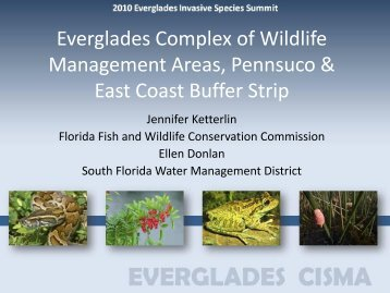 South Florida Water Management District / Florida Fish & Wildlife ...
