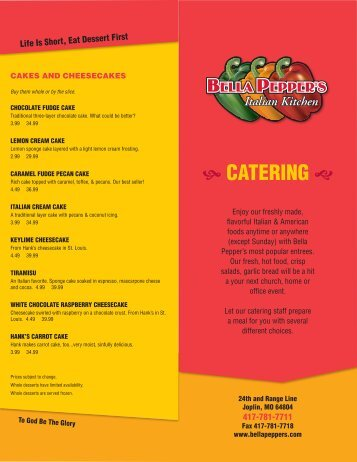Download Catering Menu - Red Onion