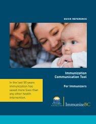 Immunization Communication Tool for Immunizers - ImmunizeBC