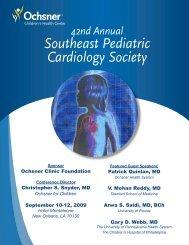 Southeast Pediatric Cardiology Society - Ochsner Academics