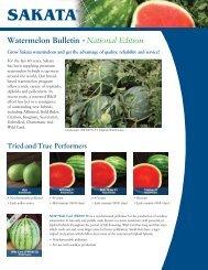 Watermelon Bulletin • National Edition - Sakata Vegetables
