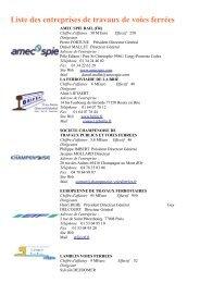 Liste des entreprises de travaux de voies ferrées - Planete TP