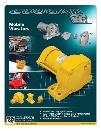 Cougar Vibration Truck Vibrator Specifications