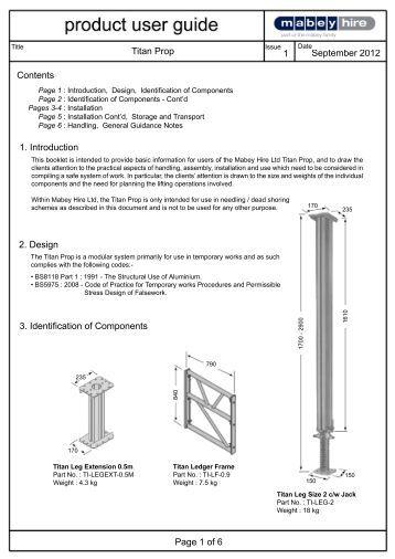 Construction Formwork Worldwide Conform Titan Aluminium Props