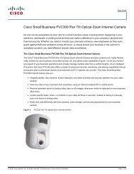 Cisco Small Business PVC300 Pan Tilt Optical Zoom Internet Camera