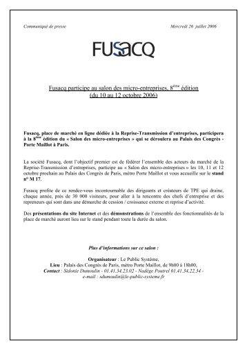 Fusacq participe à la 8ème édition du Salon des micro-entreprises