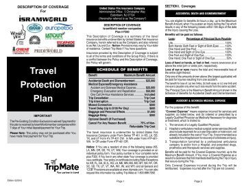 Travel Protection Plan - Isram World of Travel