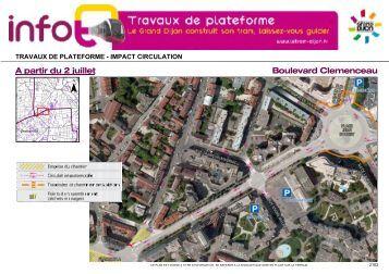 Boulevard Clemenceau A partir du 2 juillet - Le Tram