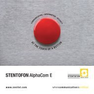 STENTOFON AlphaCom E - VIS Security