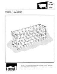 Portable Hay Feeder Leaflet (Imperial) - Canada Plan Service ...