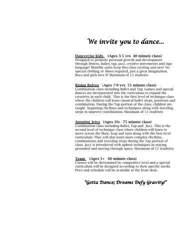 Dance Brochure 2010