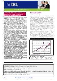 Perspectives économiques - septembre 2012 - Dexia Crédit Local
